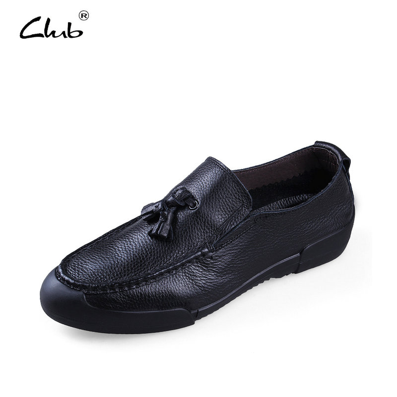 Club 2017 Men Loafers Genuine Leather Casual Shoes Men Flats Oxford Shoes Men Driving Shoes Slip-on Man Shoes Zapatillas Hombre hot sale mens italian style flat shoes genuine leather handmade men casual flats top quality oxford shoes men leather shoes