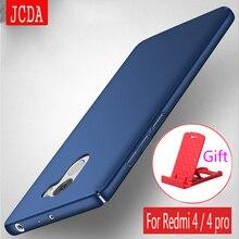 Оригинальный jcda бренд для Xiaomi Redmi 4 Pro 4A Redmi 4X Премьер Телефон Case силиконовая крышка скраб Роскошный Жесткий матовый PC Case
