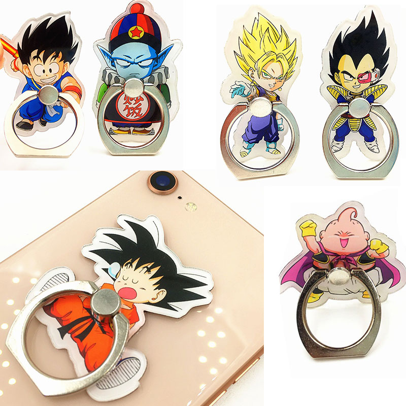 Dragon Ball Phone Ring Goku Vegeta Mobile Phone Holder Dragon Ball Z 360 Degree Smart Phone Finger Ring Stand For Phone