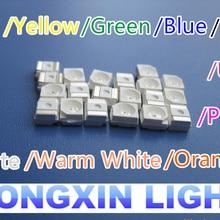 200 шт. SMT/SMD 3528 светодиодный красный/желтый/зеленый/голубой лед/RGB/теплый белый/розовый/фиолетовый УФ/оранжевый/Прозрачный SMD 1210 светодиодный диоды PLCC-2