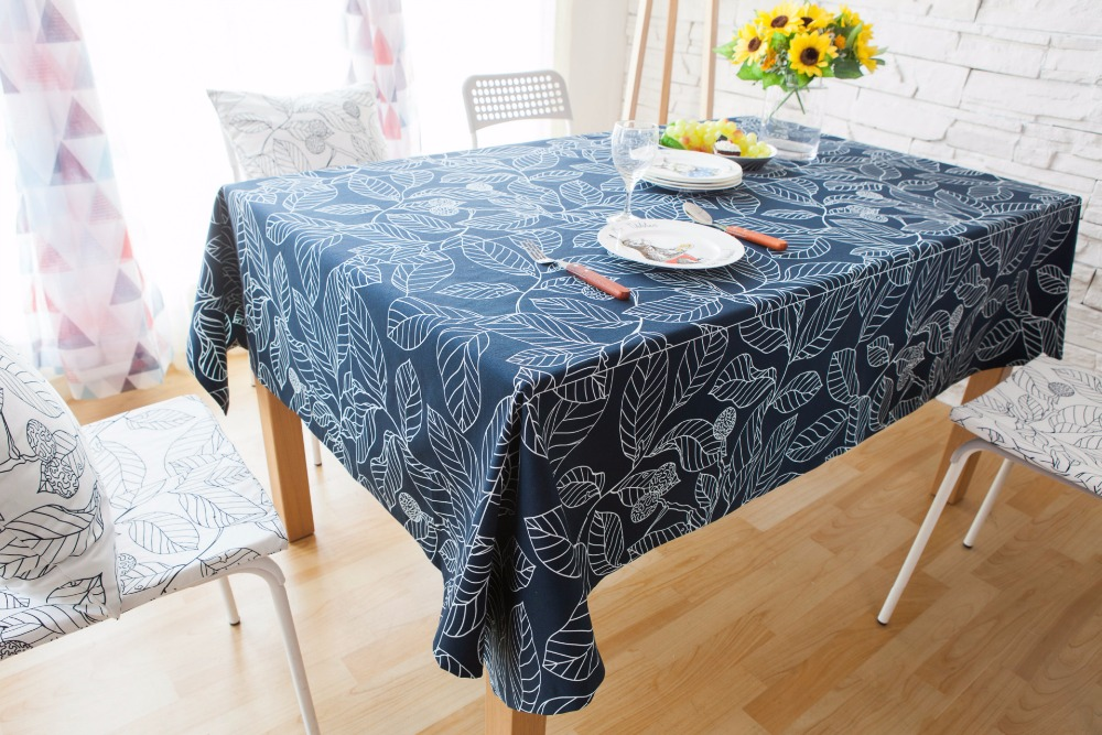 Customizable Art Leaf Pattern Table Cloth Pastoral Southeast Asia Simple  Home Decorative Table Covers Square Leaves Tablecloths In Tablecloths From  Home ...