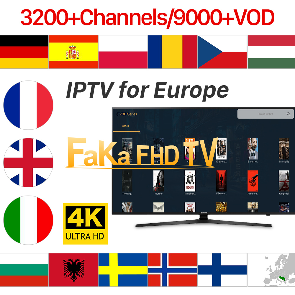 Europe IPTV Subscription France IPTV Italy Germany UK Canada IP TV Spain Portugal Turkey Albania French IPTV Code for Android-in Set-top Boxes from Consumer Electronics