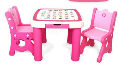 Baby child desk chairs and tables suits. Plastic learning table. A chair