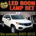 Cheetah 6 X navio livre de Erro Free Car LED Interior Do Veículo Kit Luzes de mapa Dome Porta acessórios do Pacote para kia sorento 2007-2015