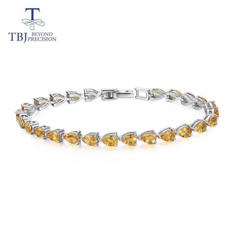 925 Sterling Silver Fashion Jewelry Natural SMOKY QUARTZ Gems Women Bracelet New