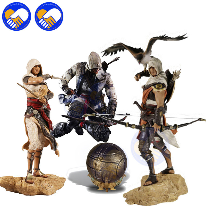 NEW Bayek Aya Connor Kenway Assassin's Creed Origins Action Toy Figures PVC Model Collection Toys Children Best Birthday Gifts assassins creed origins aya pvc figure collectible model toy 22cm