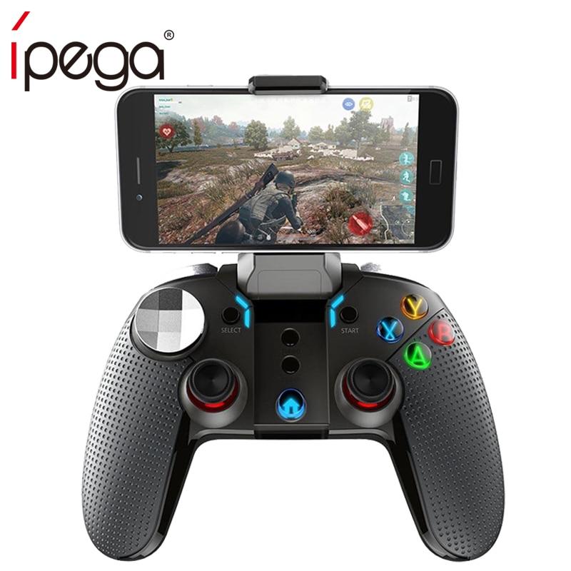 Nouveau Ipega PG 9099 Double vibration Bluetooth Gamepad coloré lumière LED bouton pubg contrôleur pour Android ios ipad tabl