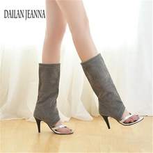 d5a1dcb2 Sandały damskie szpilki klip toe letnie buty hollow buty buty netto dziura buty  damskie letnie Koreański