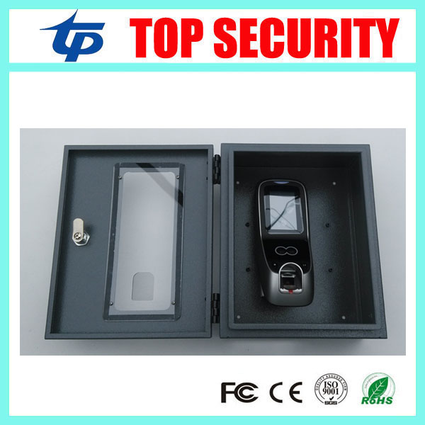 Multibio700/ iface7 face access control protect box good quality metal protect box protect cover with key