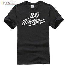 дешево!  100 Thieves Logo 3 Популярная футболка без метки Лучший!