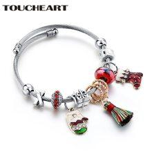 Toucheart Рождественский подарок браслет из нержавеющей стали