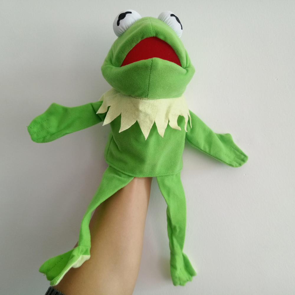 Rare The Muppets Puppet Kermit Frog Plush 40cm Hand Puppets Baby Kids Children