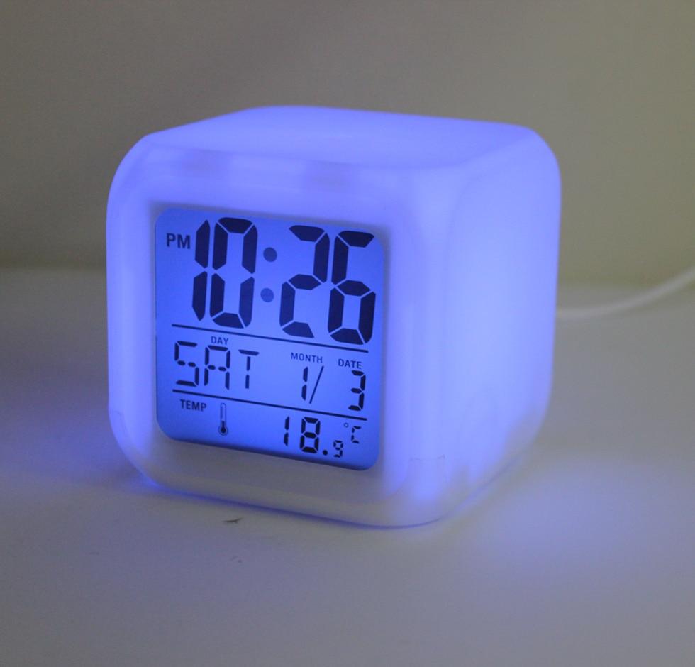 hot sale led alarm clock color change digital alarm clock colorful night light clocks in alarm. Black Bedroom Furniture Sets. Home Design Ideas