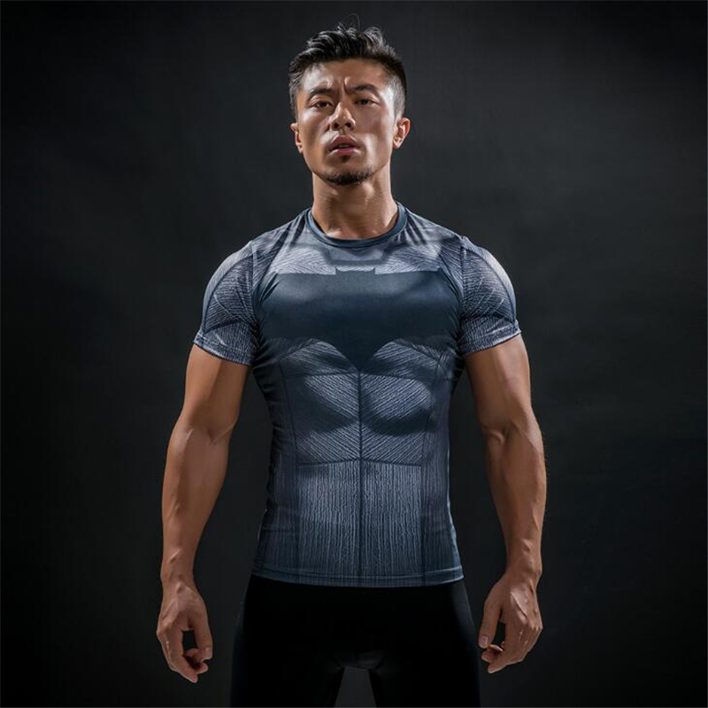TUNSECHY Captain America 3D T Shirt Men Fitness Compression Shirts Tops Male Print Superhero Superman Crossfit Anime T-Shirts