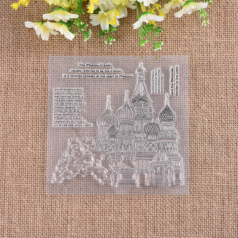 Castle Building DiyArts New 2018 Clear Stamps Scrapbooking Album Card  Making Embossing Craft Silicone Transparent Rubber Stamp