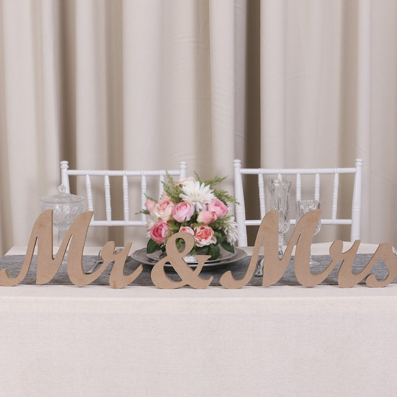 Us 28 19 6 Off 3pcs Lot Vintage Style Mr Mrs Wooden Letters For Wedding Decoration Diy Decor Wedding Table Decoration In Party Direction Signs