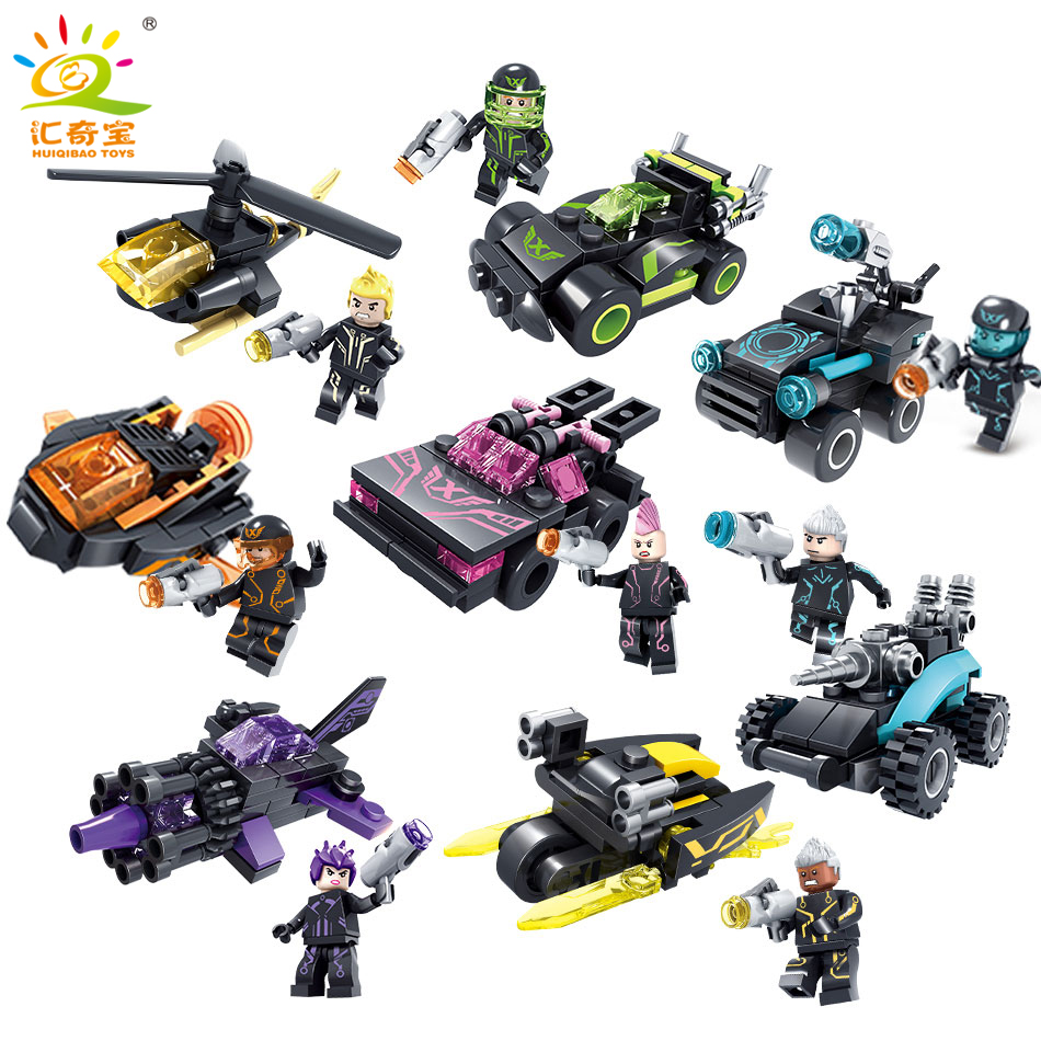 8sets/lot City Swat Police Figures with Weapons Building Blocks Bricks  Compatible Legoe Army Gifts Toys for children Boys 6pcs swat military army riot police officer special weapons minifigures building blocks bricks kid baby boy toys