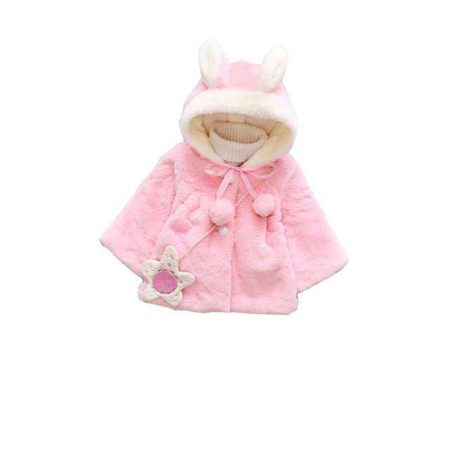 c3bc14452 BibiCola 2018 Winter Baby Girls Coat Warm Cloak Windbreaker Children ...