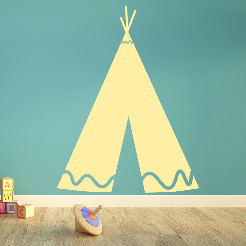 Indian TeePee Tent Wall Stickers Removable Vinyl Wall Decal Play ...