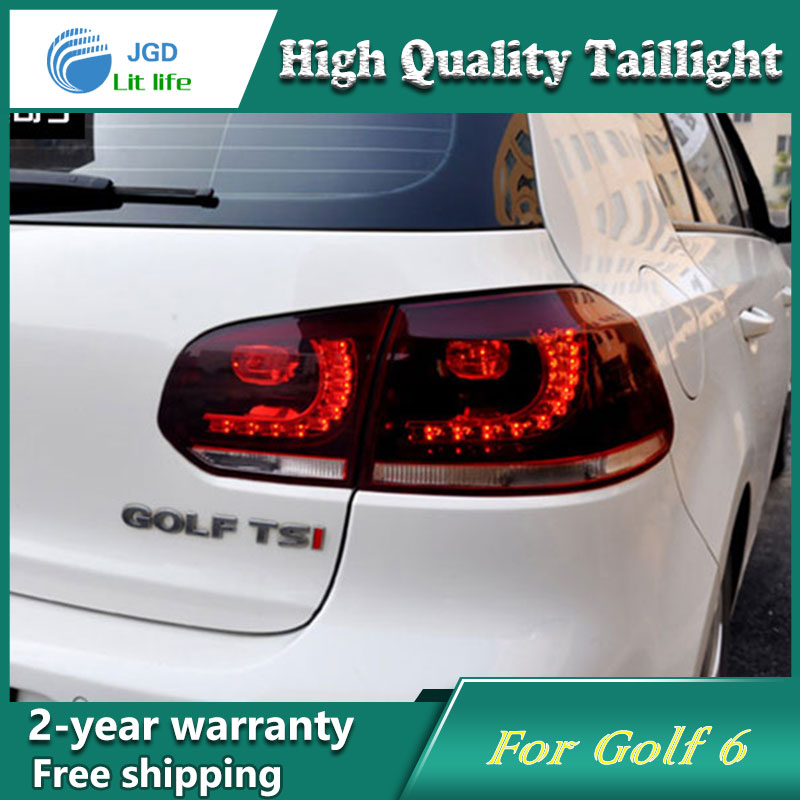 Car Styling Tail Lamp for VW Golf 6 Golf6 2009-2012 Tail Lights LED Tail Light Rear Lamp LED DRL+Brake+Park+Signal Stop Lamp car styling for honda city taillights 2009 2014 for city led tail lamp rear lamp drl brake park signal led lights