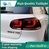 Car Styling Tail Lamp For VW Golf 6 Golf6 2009 2012 Tail Lights LED Tail Light