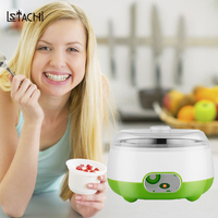 LSTACHi 1L Fermentation Yogurt Maker Household DIY Mechanical Timer Control constant tempreture machine in kitchen appliances