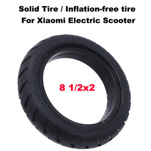 Image 1 - Xiaomi Electric Scooter Tires 8 1/2x2 Tubeless Wheel Tyres Solid Tyre Inflation Free for Xiaomi Electric Scooter Tyre Accessory