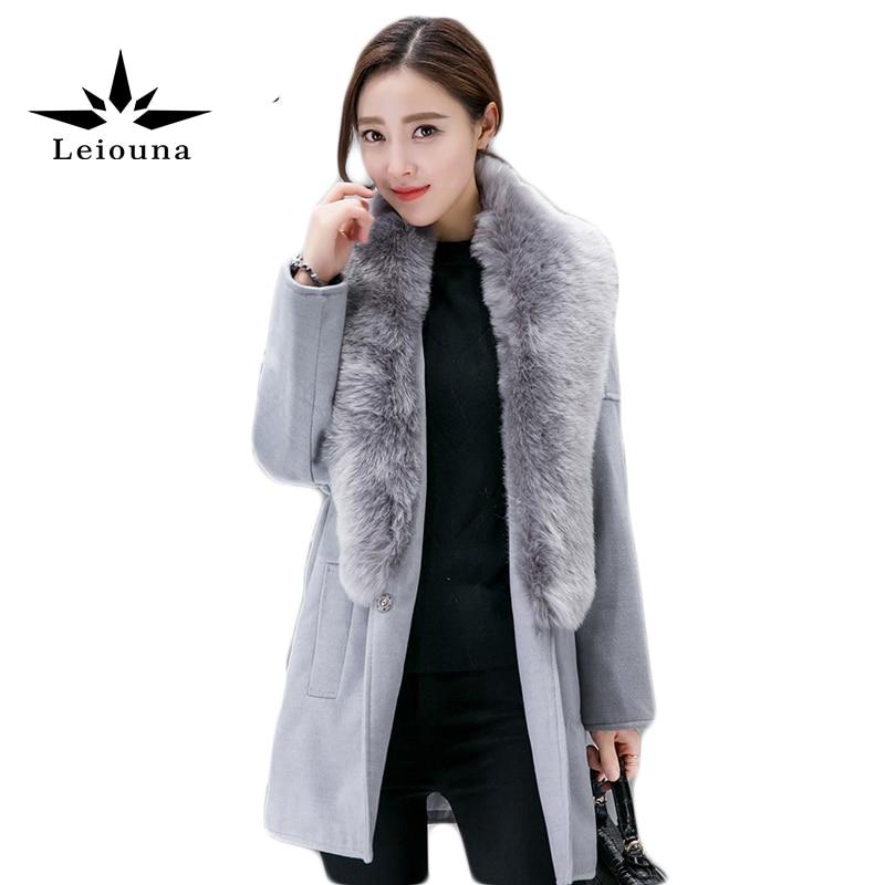 soft elasticity thicken cashmere wool knee warmer supporter black pair Leiouna Faux Fur Collar Women's Cashmere Snow Wear Coat Winter Thicken Warm Long Jacket Wool Blends Gray Anorak