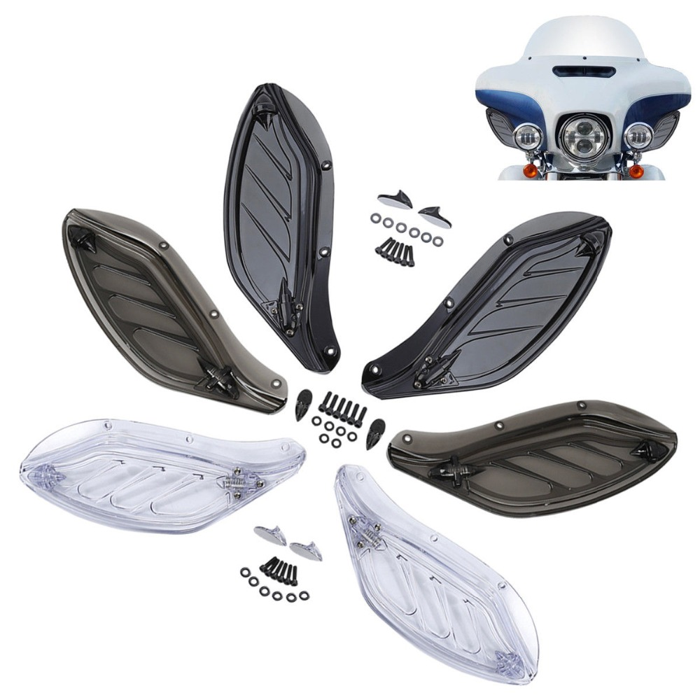 Adjustable Side Wings Air Deflector Kit For Harley Electra Street Glide 96 2013