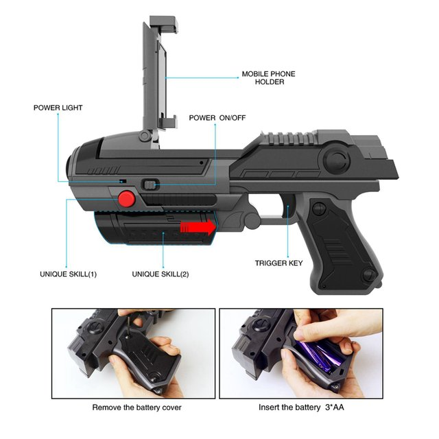 Whyy Vr Game Ar Gun Shooting Game Smartphones Bluetooth Control Toy For Ios Android Air Guns