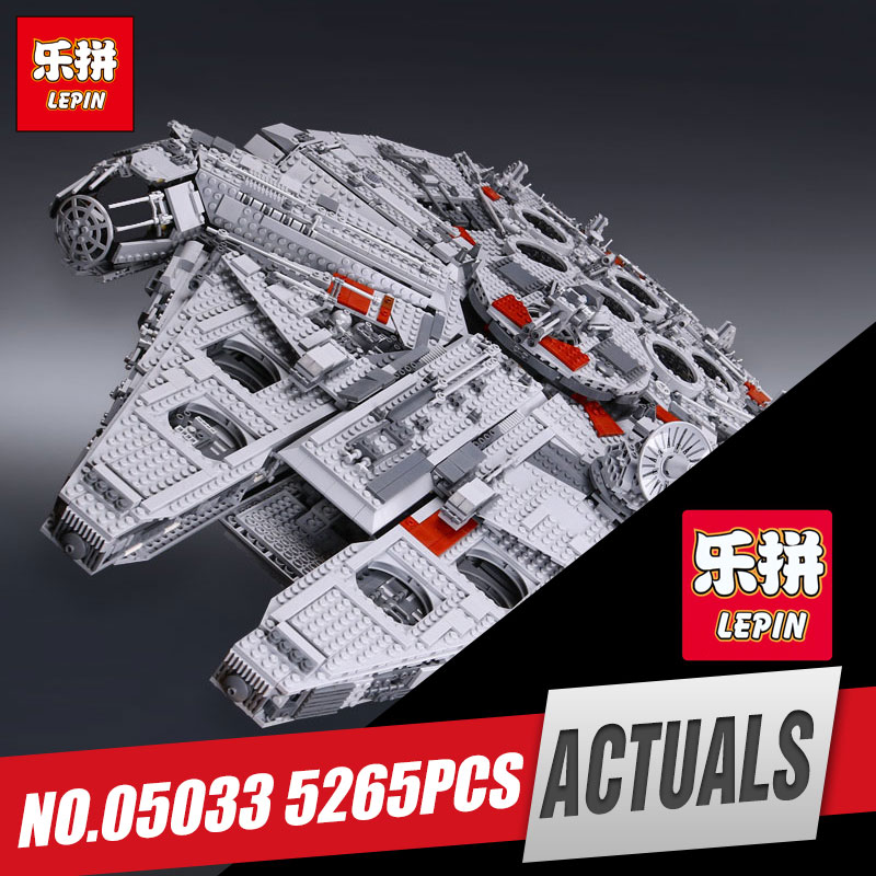 LEPIN 05033 5265Pcs Star Ultimate Kits Collector's Millennium Toys Falcon Model Building Blocks Bricks Kids War Toys Gifts 10179 lele 5265pcs star wars ultimate collector s millennium falcon model building kits blocks bricks toys for children gift 10179