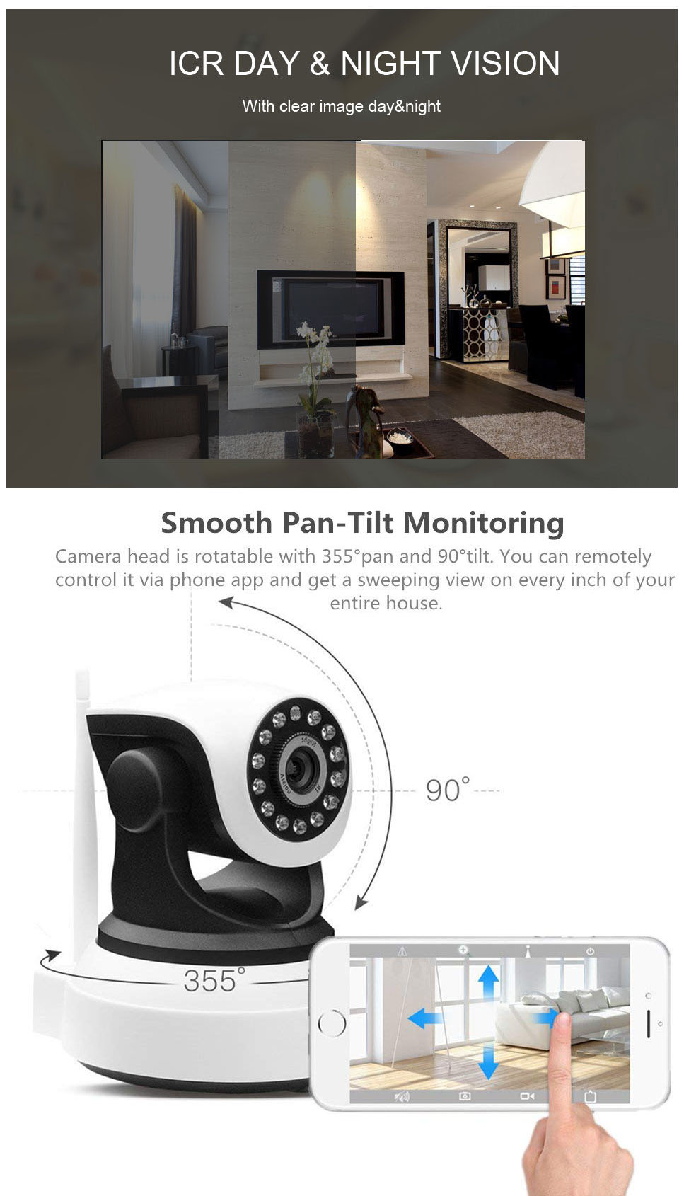 Wireless1080P IP Home Security Surveillance Remote Baby
