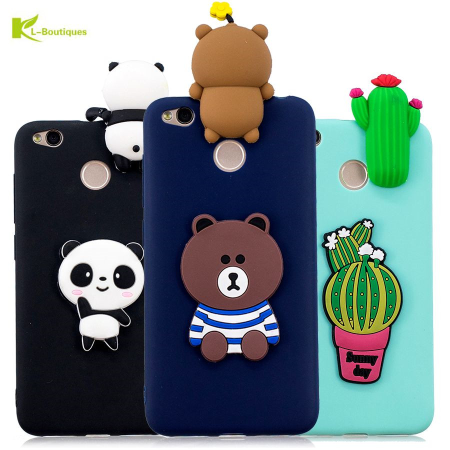 Coque Redmi 4X Case on Xiaomi S2 Note 4 Soft 3D DIY Bear Dolls Toys Phone for 5A Cover