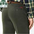 AFS JEEP Size 30 to 44 Europe style man's Cotton Mid Waist Cotton Loose Pant,Real Man's Straight Autumn Thick Trousers