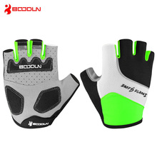 BOODUN Summer Mens Women's Cycling Gloves Half Finger Padded Sports Shockproof Bike Gloves MTB Bicycle Gloves Guantes Ciclismo sktoo 4 color summer cycling half finger 3d gel padded shockproof gloves racing anti slip mtb outdoor guantes ciclismo luva