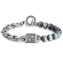 Trendsmax Eagle Eye Stone Beads Bracelets for Mens Boys Women Stainless Steel Bracelet Chains Men Fine Jewelry Gift TBX00301(Hong Kong,China)