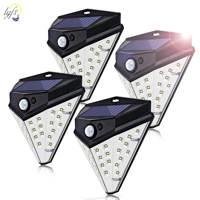 32 LED Solar Motion Sensor Lamp Triangle Shape Outdoor Waterproof Courtyard Garden Wall Lamp Solar Induction Light