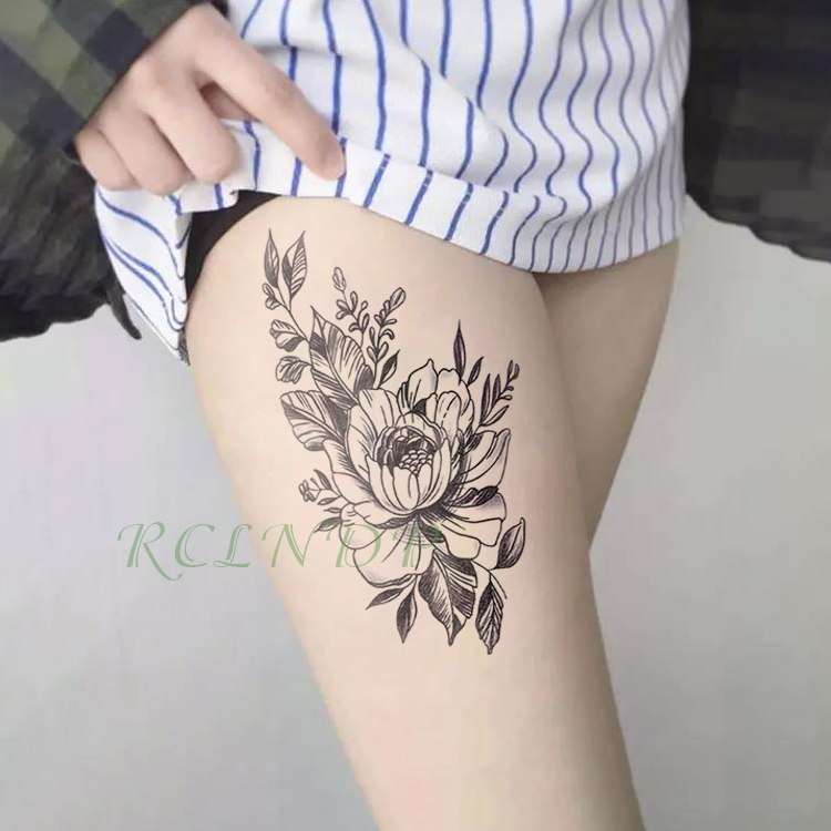 Waterproof Temporary Tattoo Sticker Beautiful Flower Fake Tatto Flash Tatoo Hand Arm Foot Shoulder Tato For Girl Women Men