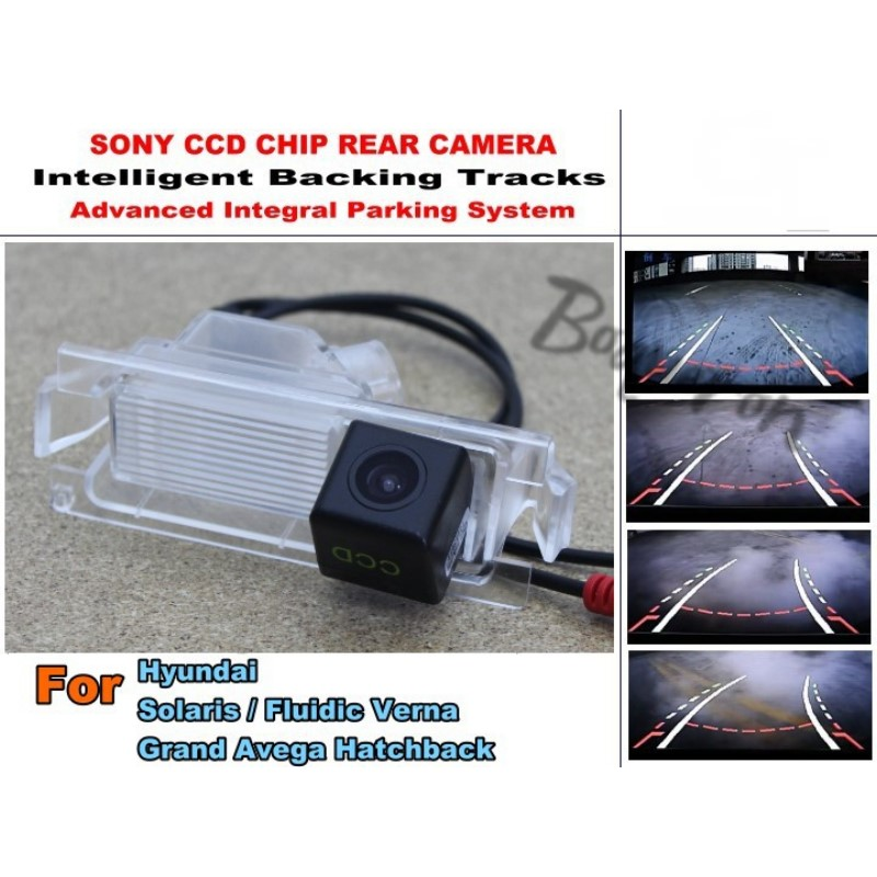 For Hyundai Solaris / Fluidic Verna / Grand Avega Hatchback Smart Tracks Chip Camera HD CCD Intelligent Dynamic Rear View Camera hyundai accent hatchback ii бу москва