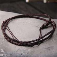 10pcs 3.50mm Coffee Black 60CM Silk Cord Twist Thread Necklace Fit 925 Sterling Silver Charms Beads/Pendant Jewelry Accessories