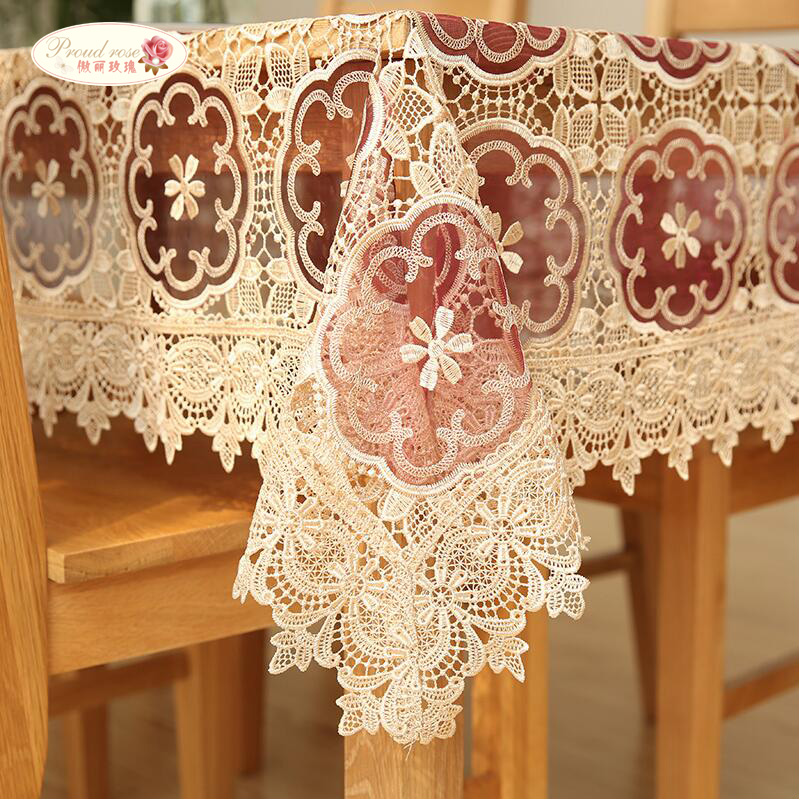 Proud Rose Korean Table Cloth Tablecloth Lace Table Cloth Transparent Table Cover Wedding decoration Embroider Tablecloths in Tablecloths from Home Garden