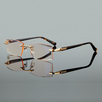 high quality cutting presbyopia lenses square reading glasses fashion presbyopic spectacles for hyperopia men