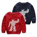 2017 New Autumn Cartoon Digital Robot Children Outerwear Hoodies Kids Autumn Long Sleeve Sweatshirt Boys Clothes Sweater