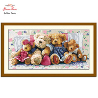 Needlework DIY Resin Square Diamond Cross Stitch Full Embroidery Bear One Pattern Rhinestone Pasted Crystal Painting