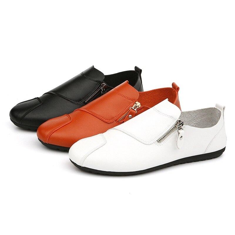 Mode Appartements blanc Mocassins Marque Respirant Haute 2018 En Confortables Doux Noir Chaussures Conduite Qualité orange De Cuir Hommes Pois Pu xCEQBeWdro