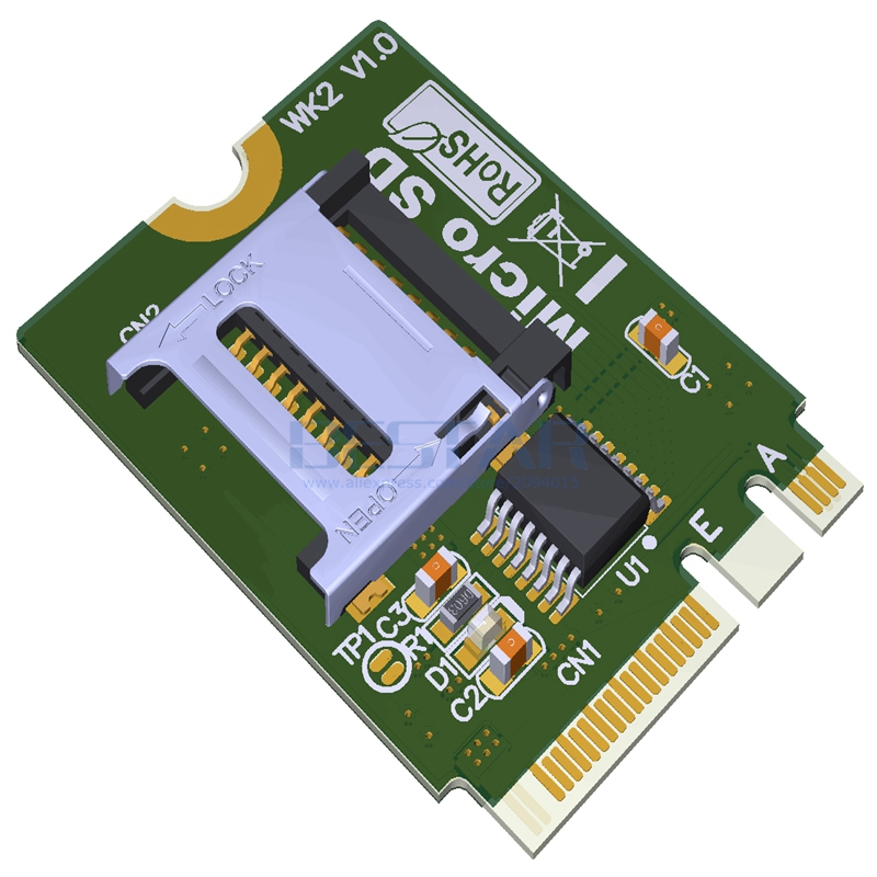 цена на M.2 NGFF key A.E To micro sd sdhc sdxc TF card Reardr T-Flash Card M2 Adapter