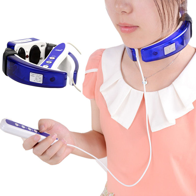 Electric neck massager therapy instrument cervical spine massage ...