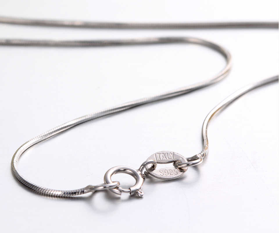 """6Sizes Available Real 925 Sterling Silver Necklaces Slim Thin Snake Chains Necklace Women Chain Kids Girls Jewelry 14-32"""" Colier"""