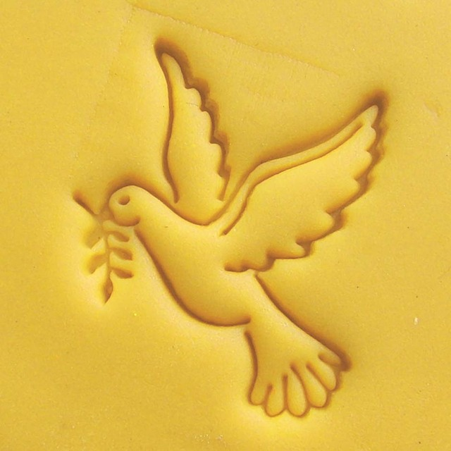 Free shipping pigeon bird of peace dove pattern Mini DIY Soap Stamp ...