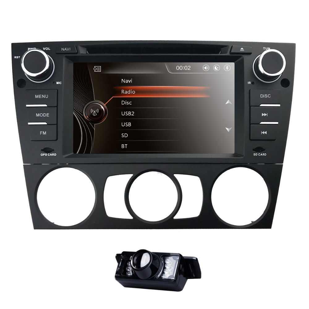 """7 """"ダブル 2Din カーステレオ DVD プレーヤーナビゲーション bmw E90 gps 、 Bluetooth 、 DAB 、 USB 、 SD 、 DTV SWC RDS AM/FM カム MirrorLink マップ cd"""